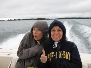 Mom And I On A Boat