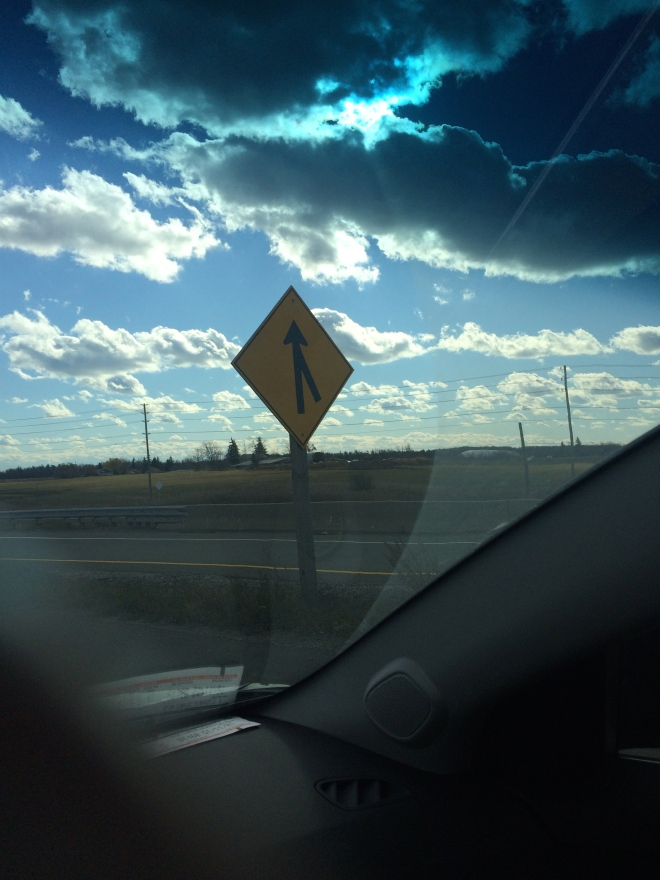 Two Roads Diverged On A Yellow Sign
